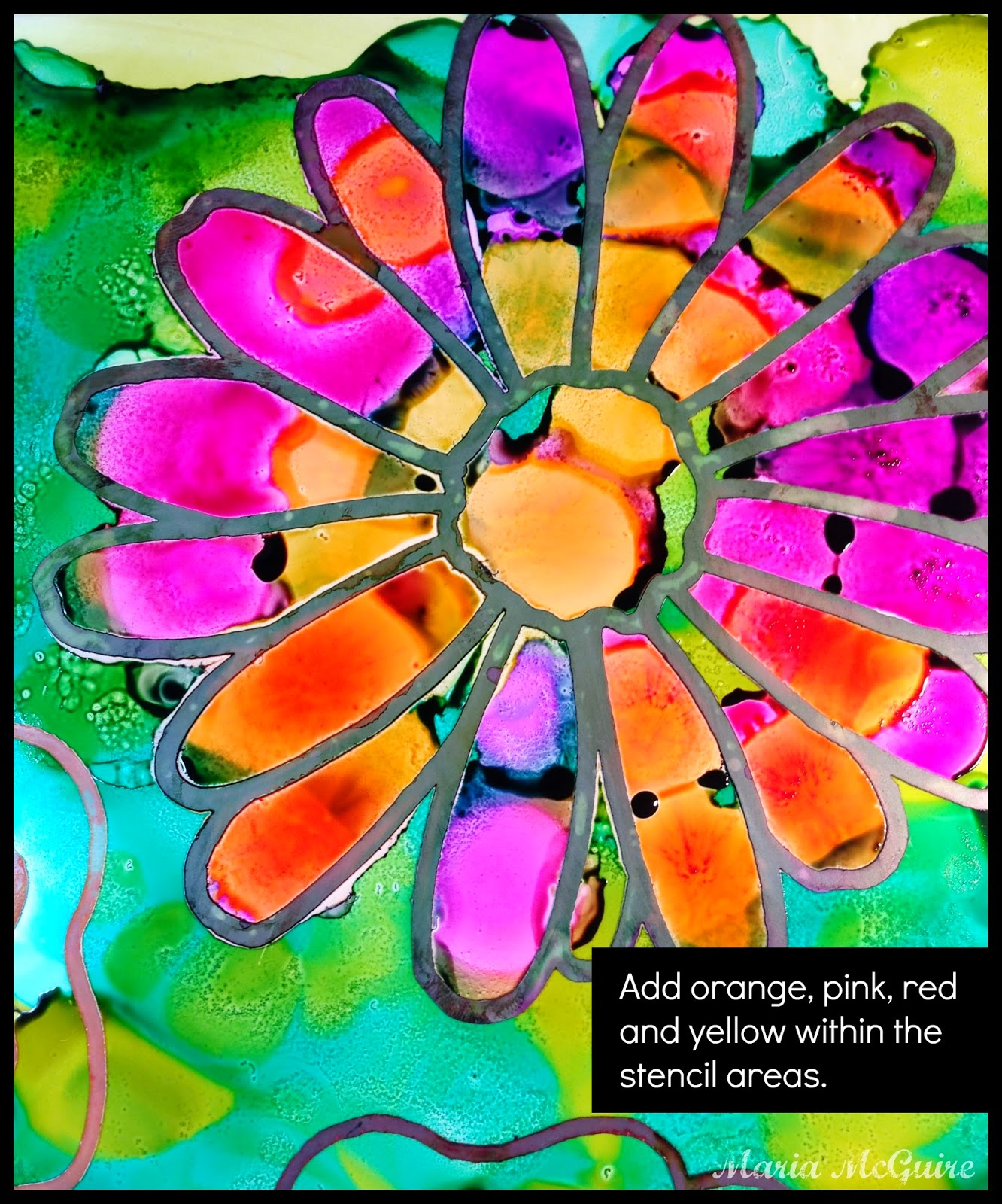 Believe dream create with maria using stencils with alcohol ink i baditri Images