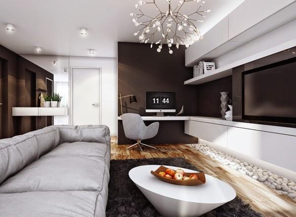 Proyecto apartamento minimalista para pareja joven for Proyectos minimalistas
