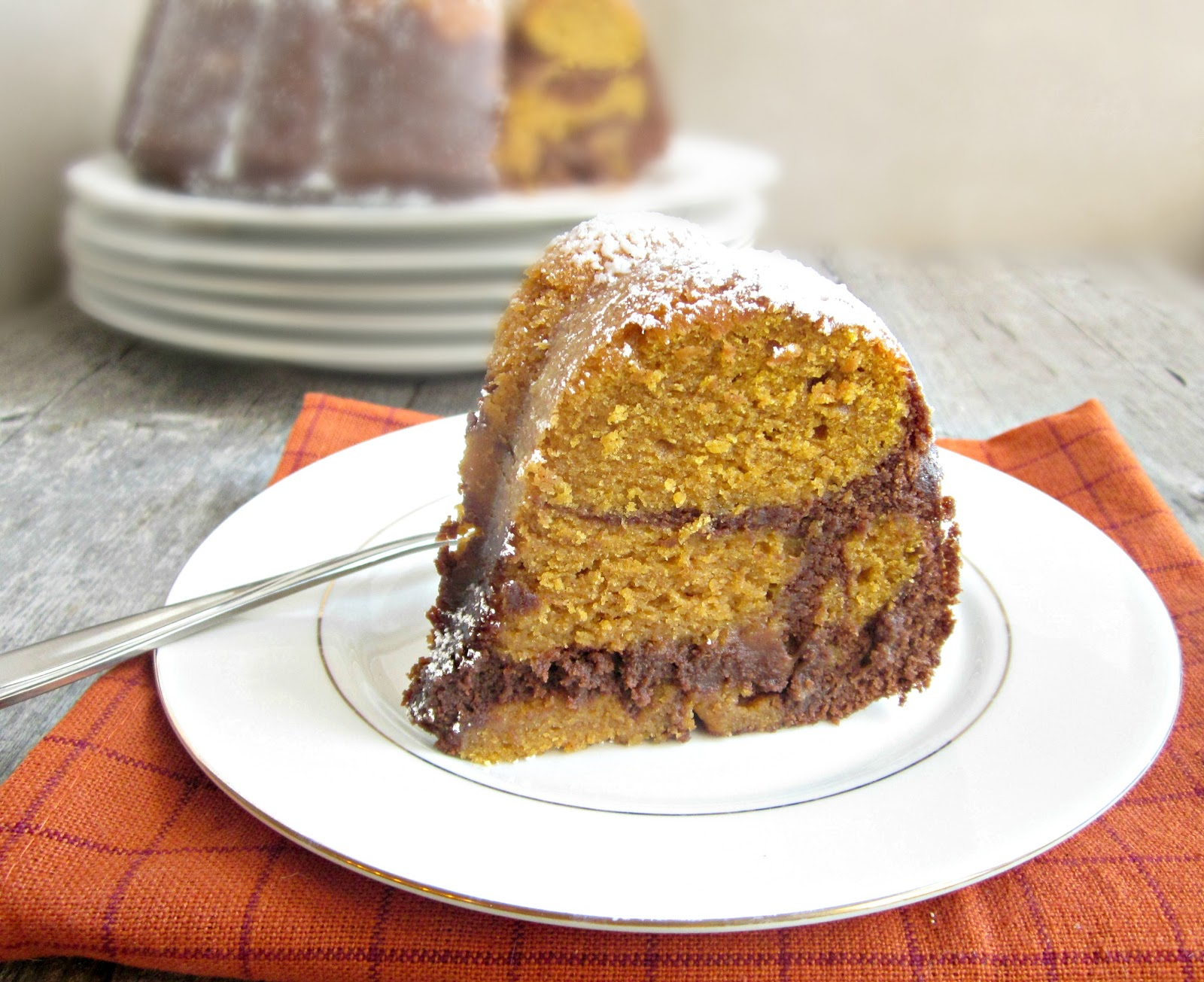 Hungry Couple: Chocolate Pumpkin Bundt Cake