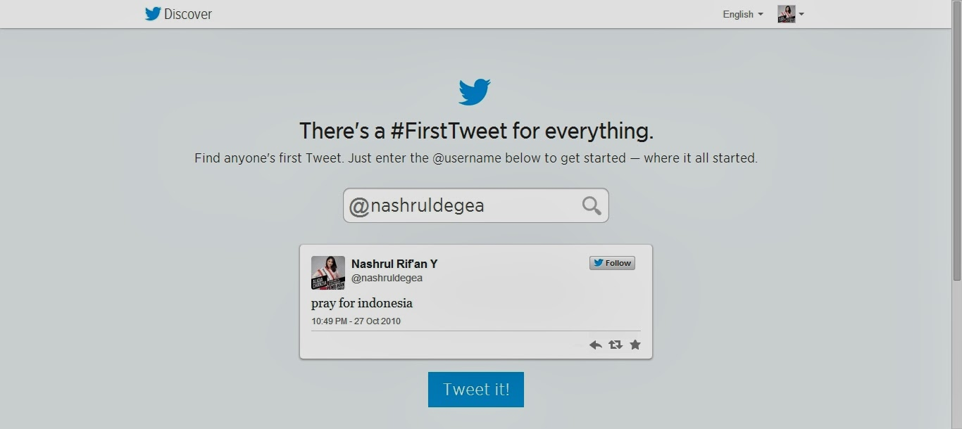 Cara Mengetahui Tweet Pertama Kamu