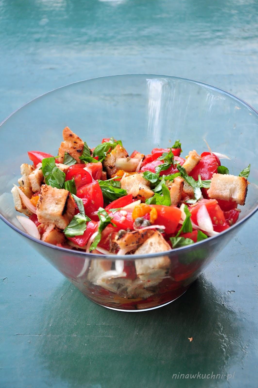 Nina W Kuchni Włoska Sałatka Z Pomidorów Panzanella