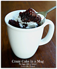 Crazy/Wacky Cake in a Mug!  Ready in Minutes!