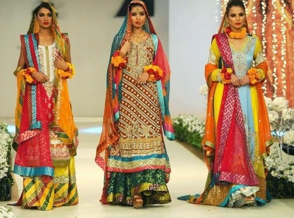 Mehndi Clothes For Brides : Stylish fashion base: pictures for amazing mehndi brides