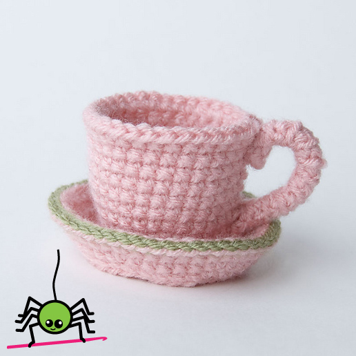The Itsy Bitsy Spider Crochet: Amigurumi Tea Cup & Saucer