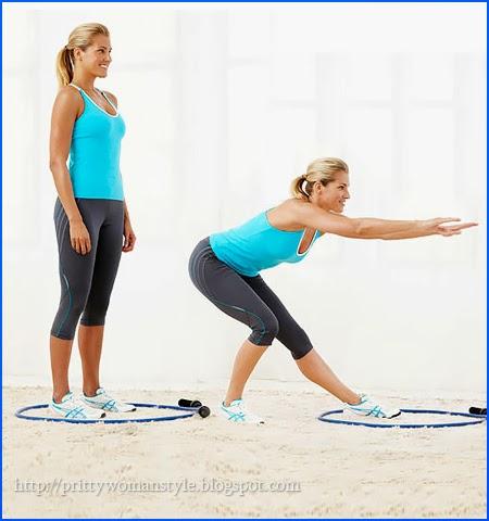 Упражнения с въже за дупе и бедра