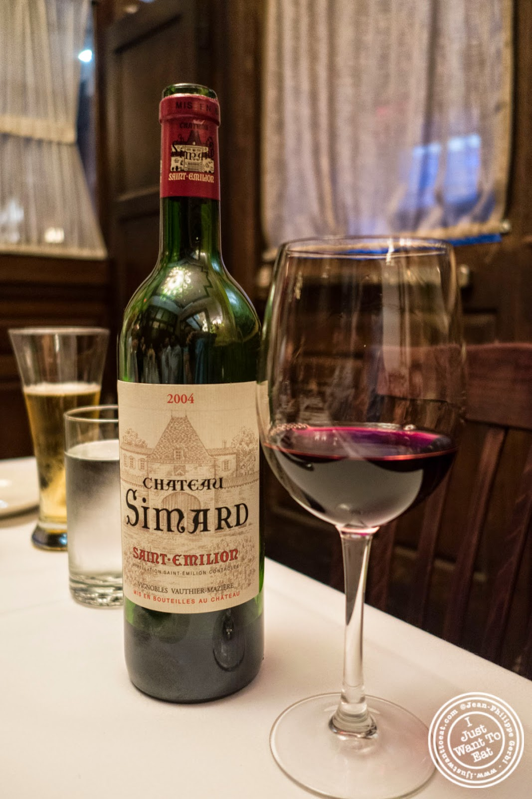 image of Chateau Simard Saint Emilion 2004 at Bobby Van's Grill in New York, NY
