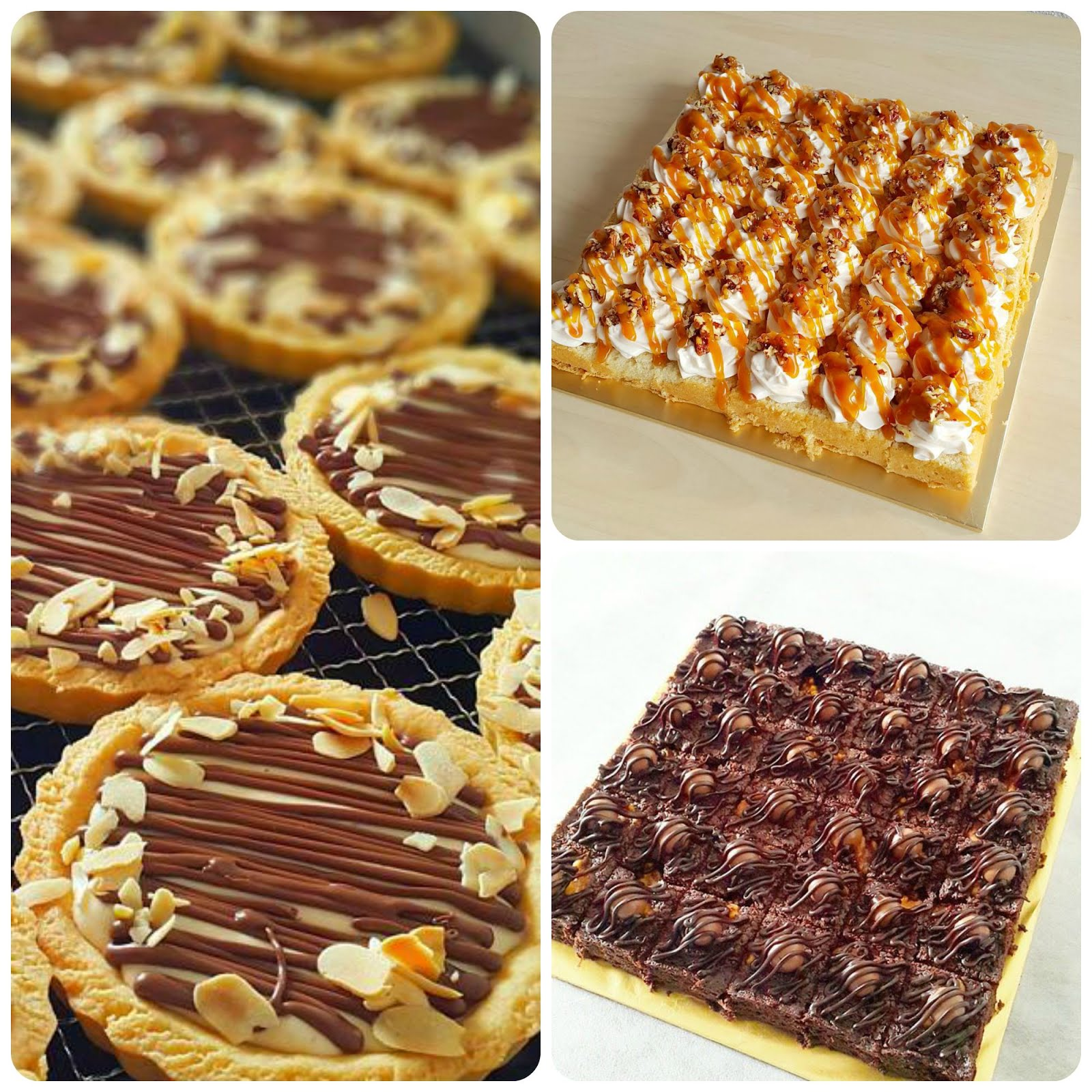 KELAS NUTELLA CHEESETART, DOUBLE CHOCOLATE BROWNIES & PECAN BUTTERSCOTCH SLICE