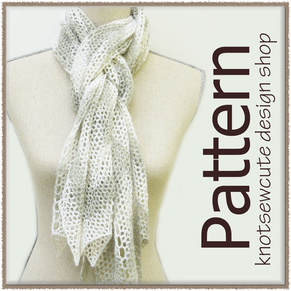 Chevron Lace Shawl Crochet Pattern : knot sew cute design shop: new crochet pattern - chevron ...