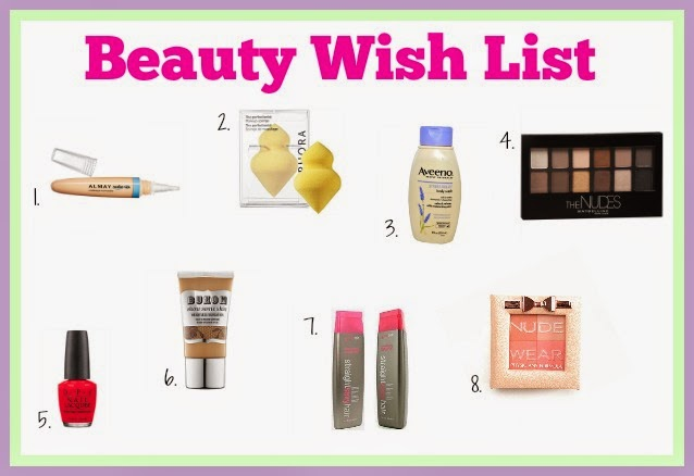 Beauty Wishlist - Buxom, OPI, Aveeno, Almay, Maybelline, Physicians Formula, Big Sexy Hair