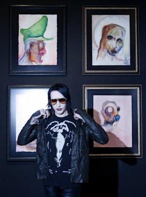 Exposicion de Pinturas Marilyn Manson en Mexico