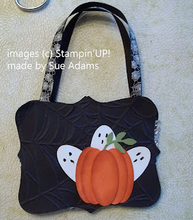 Halloween Treat Tote with Pumpkin and Ghost Punch Art