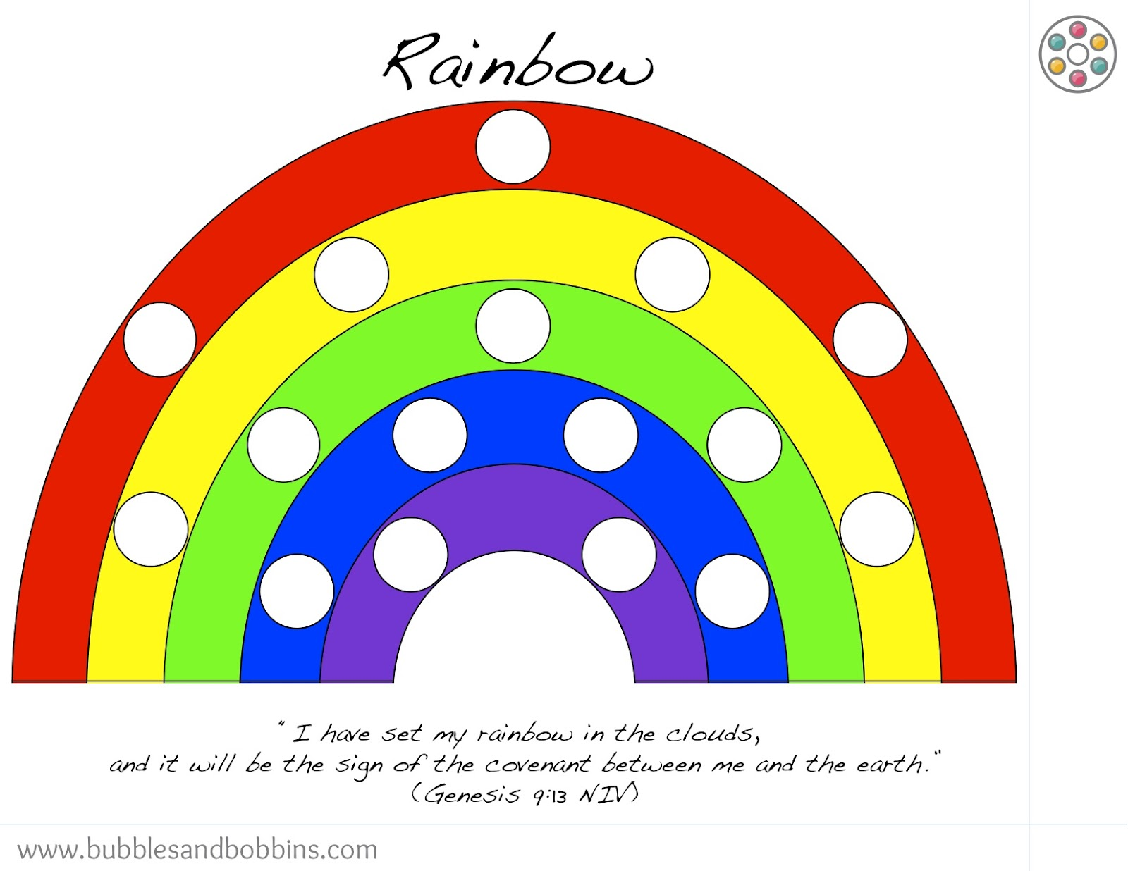 rainbow pompom template