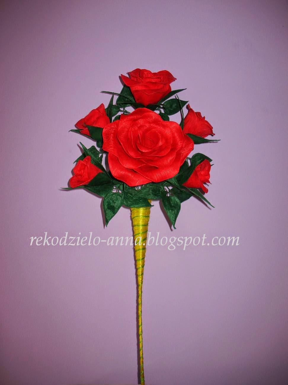 Róże w rożku