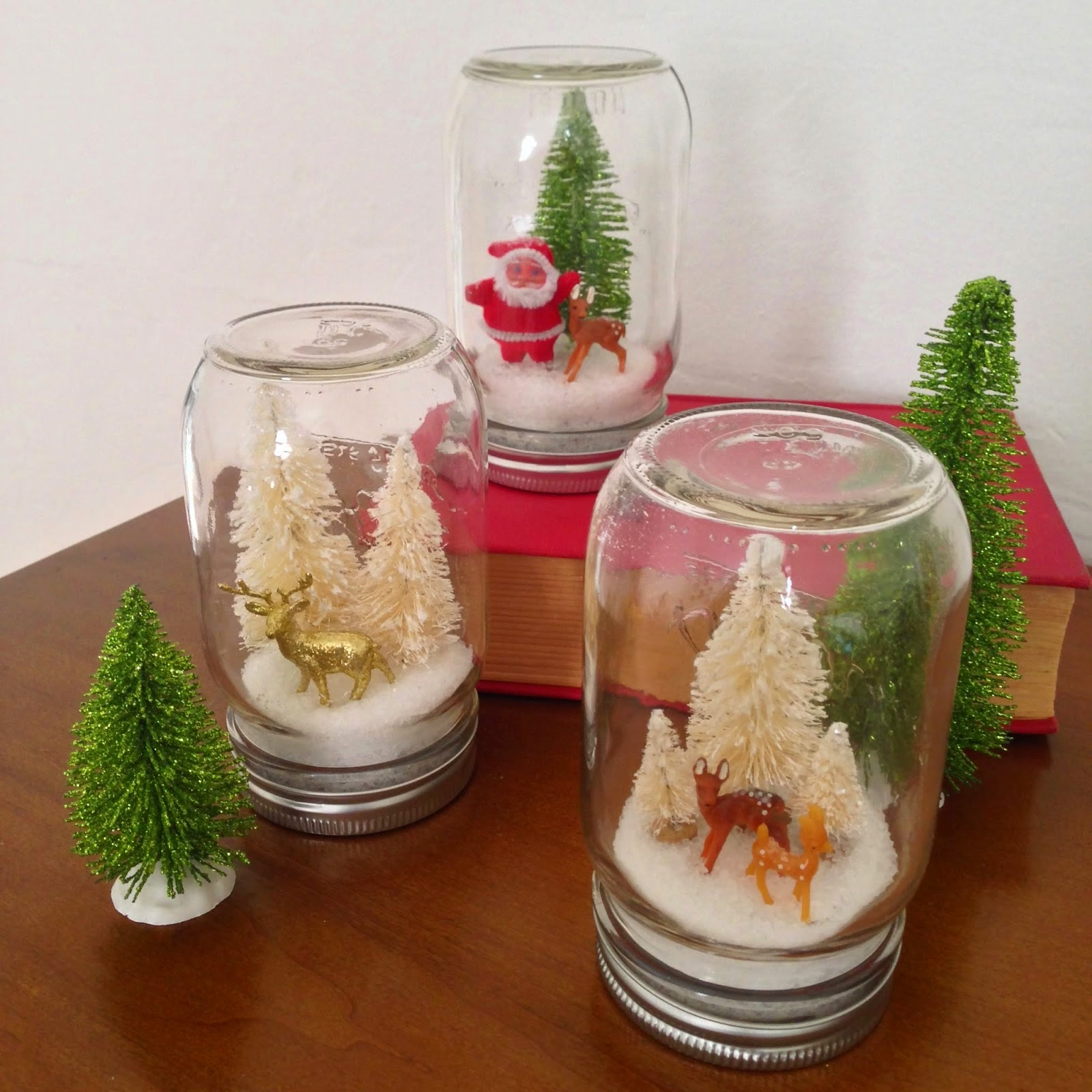 diy christmas snow-globes