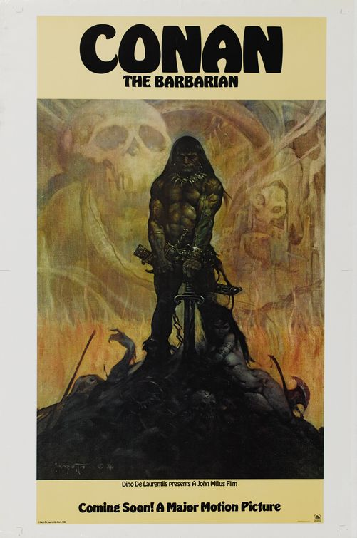 Conan The Barbarian 1981 concept Poster