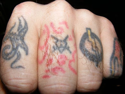 Pictures of Knuckle tattoos design