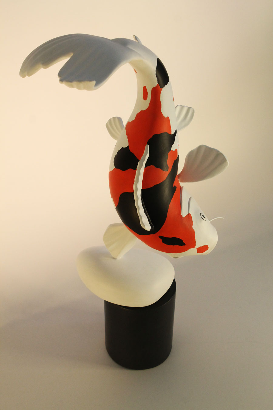 Binome nouvelle sculpture small carpe koi for Mini carpe koi