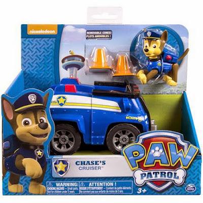 JUGUETES - Paw Patrol | La Patrulla Canina  El cruiser de Chase | Vehículo + Figura  Chase's Cruiser  Toys | Producto Oficial Serie Televisión Nickelodeon | A partir de 3 años