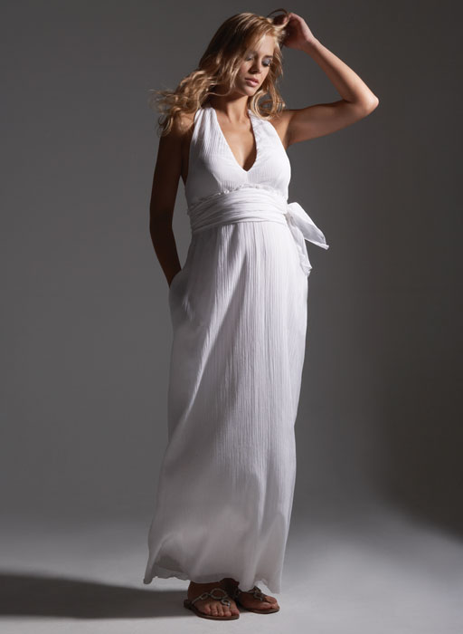 summer maternity wedding dress