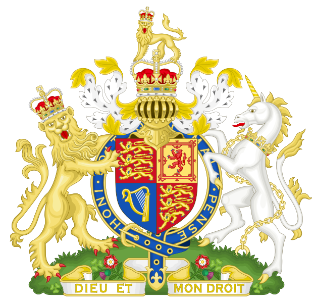 Royal coat of arms of the UK