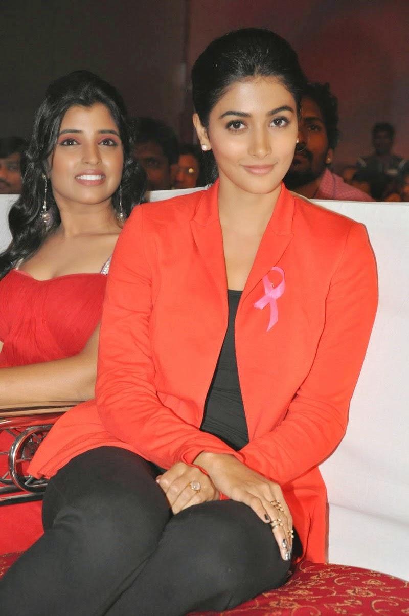 Pooja Hegde Latest Glamorous Photo In Orange Color Suit