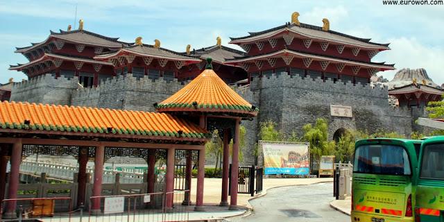 fortaleza china de la dinastía Tang del Muelle de Pescadores (Fisherman's Wharf) de Macao