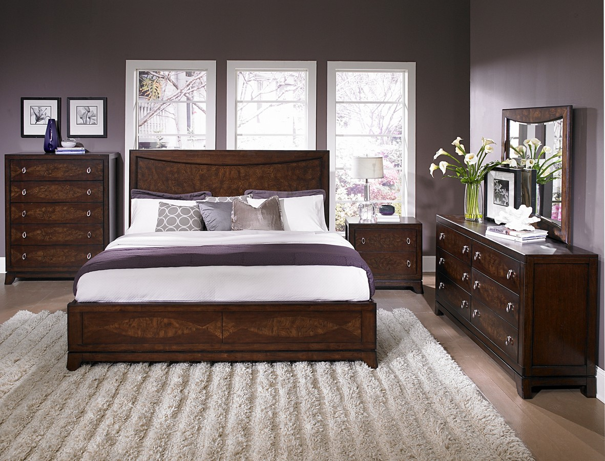 Contemporary bedroom sets for Bedroom set with bed