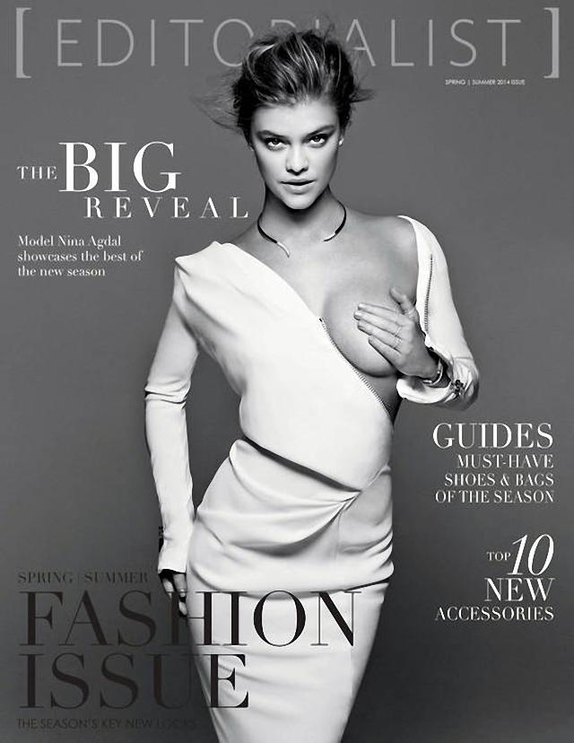 Nina Agdal en Editorialist Magazine