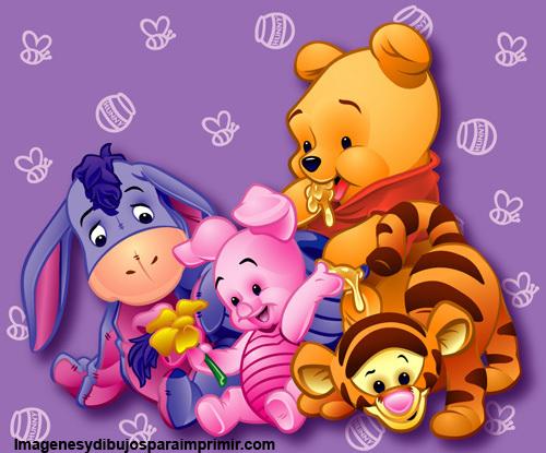 winnie the pooh bebe para imprimir