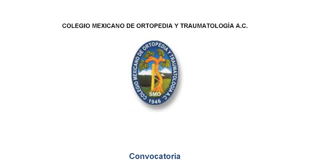 Colegio mexicano de ortopedia y traumatolog a apoyo a for W de porter ortopedia