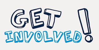Image that says get involved!
