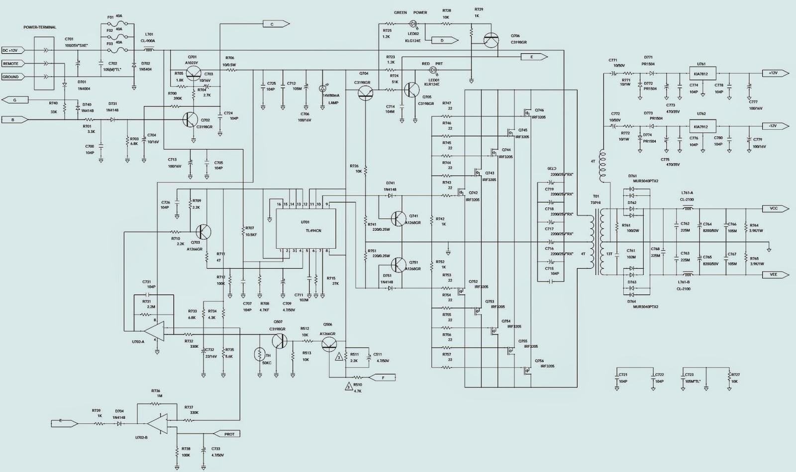 Sony Car Amplifier Circuit Diagram - Somurich.com