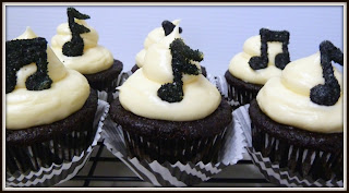 Musical Note Cupcakes by JDs Sugar Shack