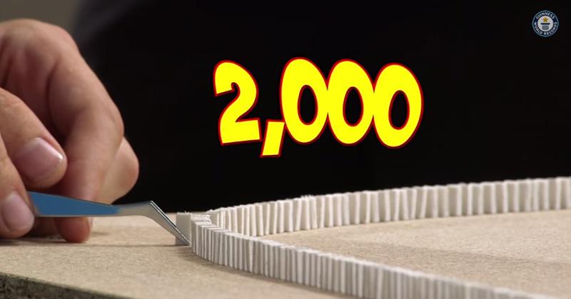 超ミニなドミノでギネス世界記録がなんだか真似出来そうな気がする