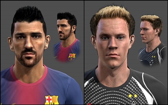 David Villa e Ter Stegen Faces - PES 2013