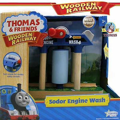 Thomas and Friends Wooden Railway Sodor Wash down box set steam train model railroading excitement