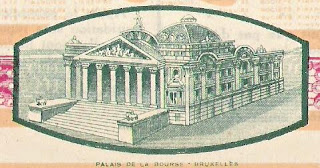 Société Financière Liégeoise, share of 500 Francs, 1925, with detail from Brussels stock exchange