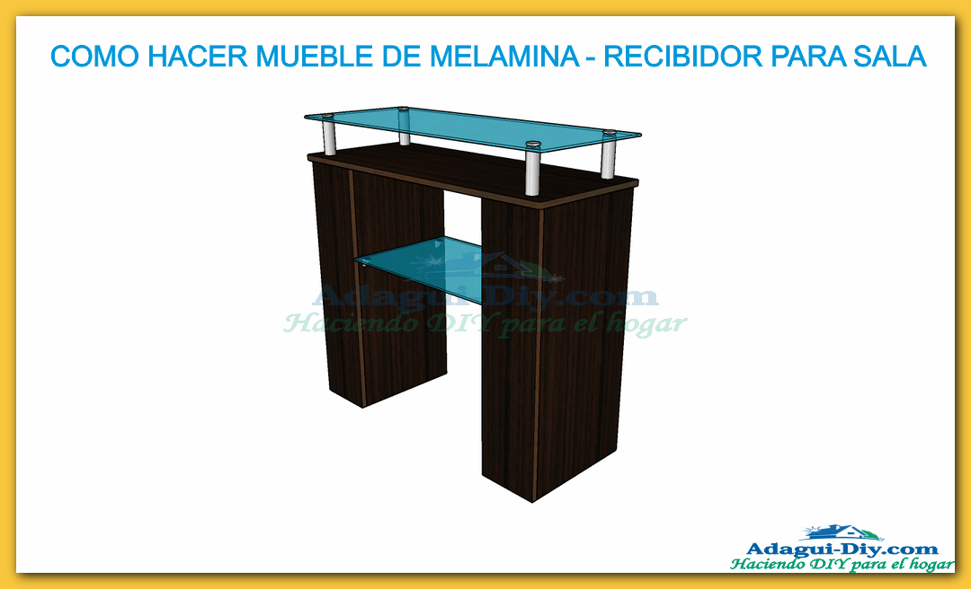 Mueble recibidor de melamina hall furniture diy adagui for Programa para crear muebles de melamina