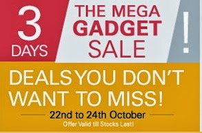 Ebay Mega Gadget Sale on Mobile | TV | Camera | Laptop | Home Appliances | Tablets | Memory Devices | Home Electronics & more (Valid till 24th Oct'13)