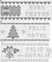 100 gráficos para bordados de natal parte 1