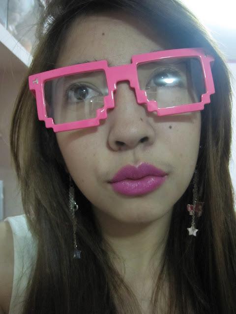 neon pink eyeglasses