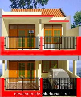 contoh Gambar 2 lantai Rumah Minimalis Type 21