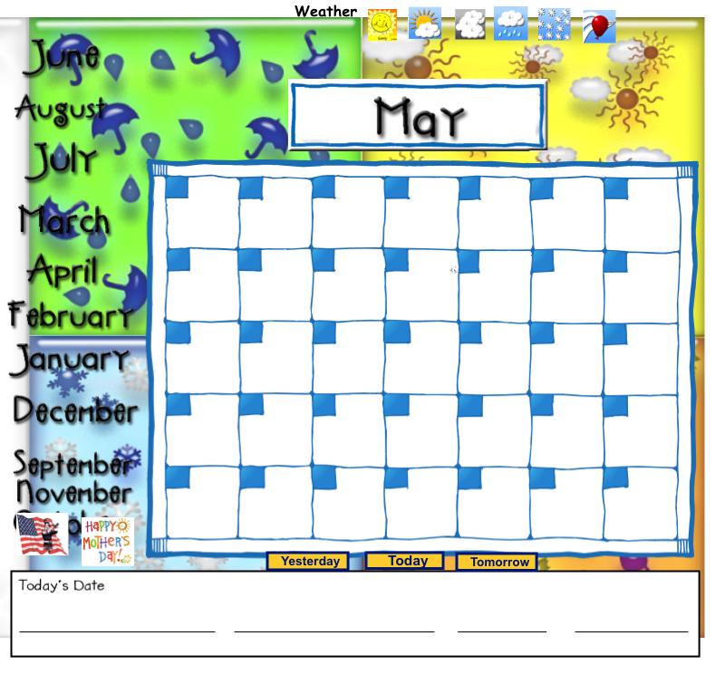 Smartboard Kindergarten Calendar : Iintegratetechnology may morning meeting smart notebook