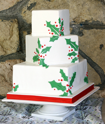 simple modern Christmas cake for an almostChristmas wedding Dec 22