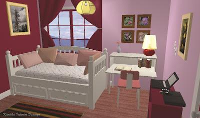 feminim untuk kamar tidur anak perempuan dengan luas 3x3 meter. Kamar ...