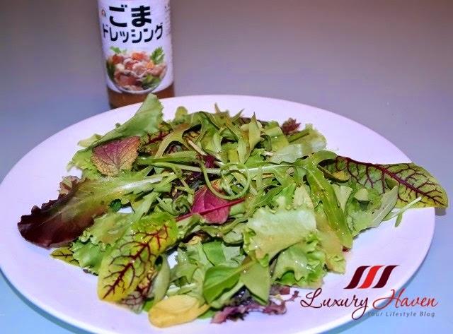 daiso goma dressing scallops salad recipe idea