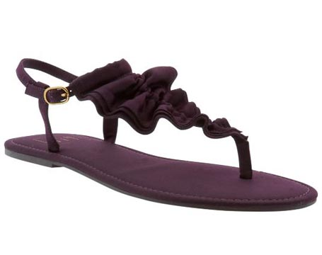 women girls simple purple sandals