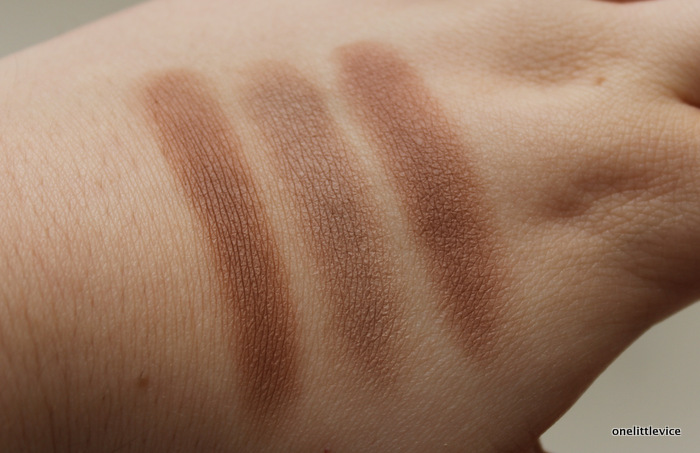 one little vice beauty blog: drugstore contour palette swatches