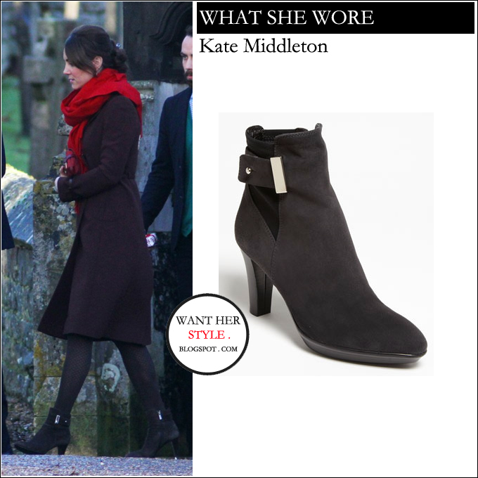 what she wore kate middleton in suede ankle boots in