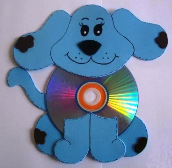 Animales hechos con cd y foami imagui - Manualidades con cd usados ...
